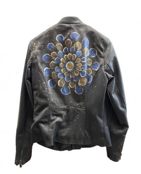 Mandala Leather Jacket Size...