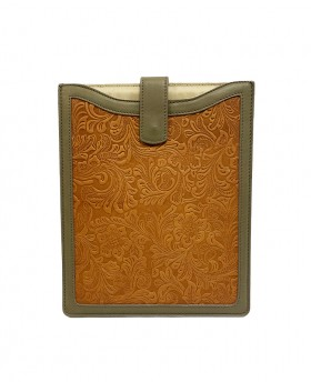 Patchwork leather case for...