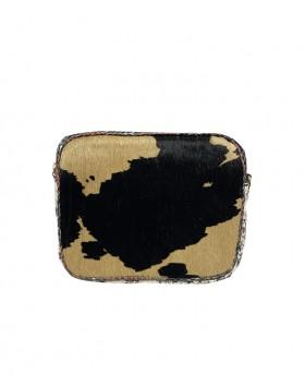 Calf hair small shoulder bag