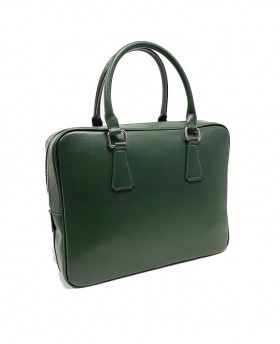 Business Leather Handbag with Shoulder Strap Saffiano Leather