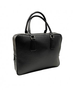 Business Leather Handbag with Shoulder Strap in Dollaro Leather