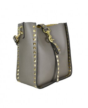 Shopper with removable clutch Small and Spike Studs