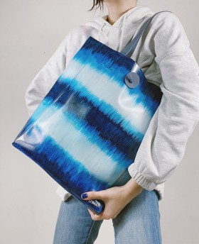 Hand-painted Tie Dye Shopping  Bag