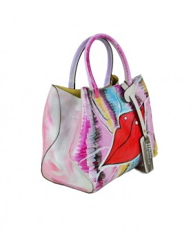 Small Hand-painted Leather Handbag