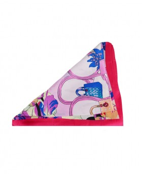Rectangular foulard with Japanese pattern