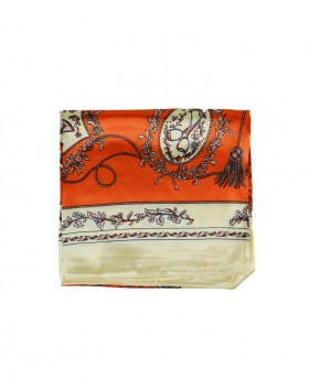 Foulard con stampa Paysley