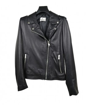 Rock style leather jacket