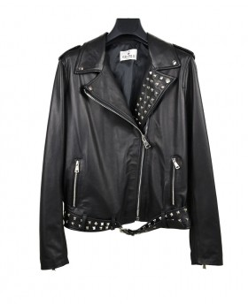 Rock Leather jacket with...