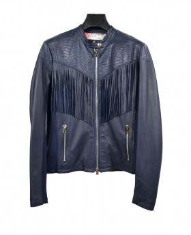70s Leather jacket with...