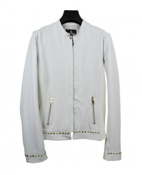 Leather jacket with studs...