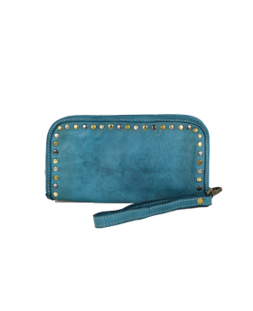 Leather wallet with studs...
