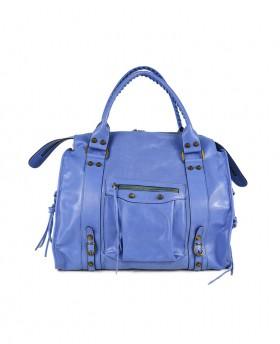 Leather Shoulder Bag with...