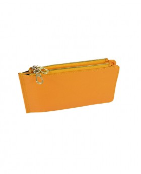 Saffiano Card holder with double zip 188A