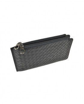 Woven Card Holder with double zip 188