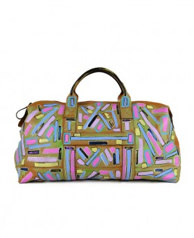 Hand painted travel bag