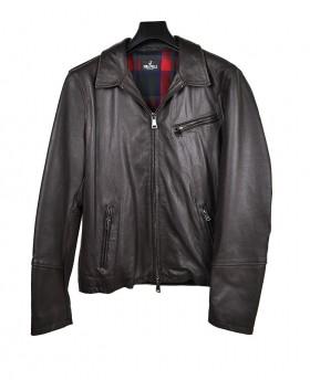 Men's Leather Jacket with zip