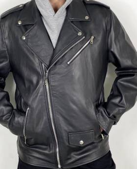 Men's Leather Jacket with print