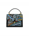 Trapeze bag with stitching