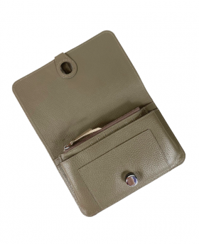 Wallet with removable card holder Taupe