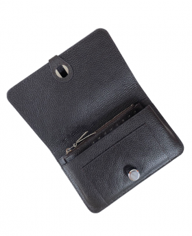 Wallet with removable card holder Deep Brown