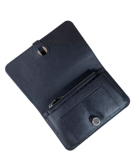Wallet with removable card holder Black