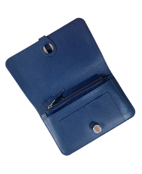 Wallet with removable card holder Blue
