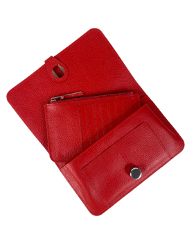 Wallet with removable card holder Red