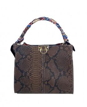 Leather Handbag with...
