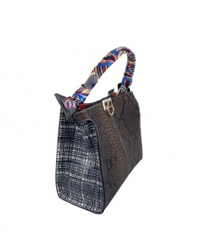 Leather Handbag with Leather Strap