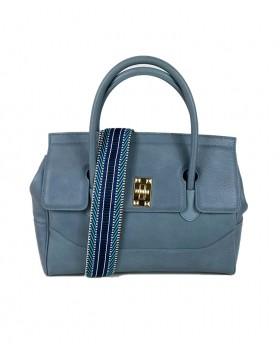 Chic Handbag with fabric...