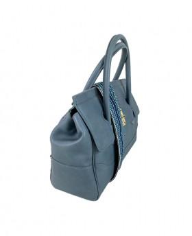 Chic Handbag with fabric shoulder strap Large