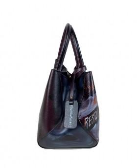 Hand-painted Leather Handbag
