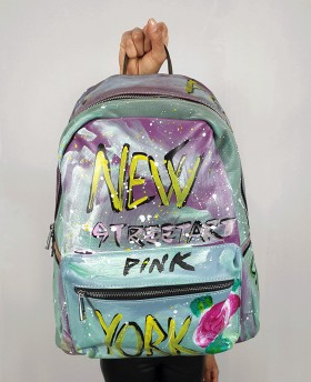 Hand-painted Leather Backpack