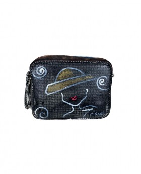 Hand painted Camera bag with zip