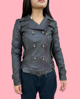 Leather trench Dark Brown
