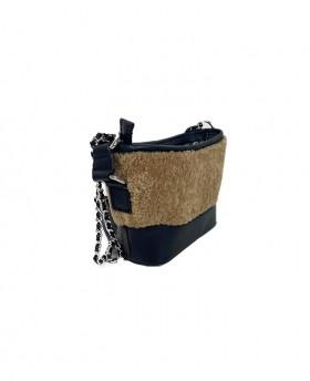 Borsa a spalla piccola elegante con tracolla a catena