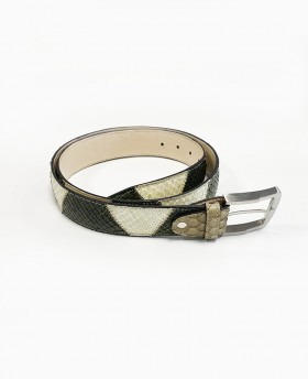 Patchwork reptile belt