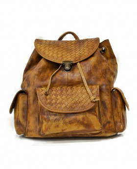 Woven vintage style backpack