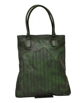 Shopper stile vintage con impunture