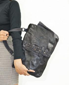 Borsa da viaggio stile vintage con borchie
