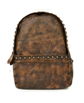 Vintage studded backpack