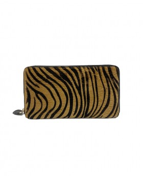 Calf hair big wallet